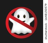 stop ghost icon vector funny | Shutterstock .eps vector #1648150579
