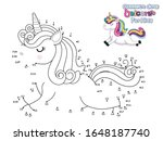 connect the dots and draw cute... | Shutterstock .eps vector #1648187740