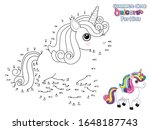 connect the dots and draw cute... | Shutterstock .eps vector #1648187743