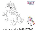 connect the dots and draw cute... | Shutterstock .eps vector #1648187746