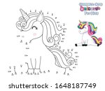 connect the dots and draw cute... | Shutterstock .eps vector #1648187749