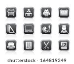school and education objects  ... | Shutterstock .eps vector #164819249