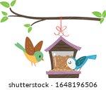 Illustration Of A Bird Feeder...