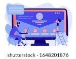 web developer working on... | Shutterstock .eps vector #1648201876