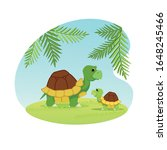 couple of cute turtles mother... | Shutterstock .eps vector #1648245466