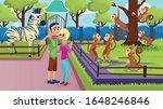 people in zoo  happy couple... | Shutterstock .eps vector #1648246846