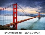 famous golden gate bridge  san... | Shutterstock . vector #164824934