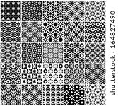 set of black and white seamless ... | Shutterstock .eps vector #164827490