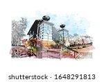 building view with landmark of...   Shutterstock .eps vector #1648291813