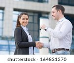 handing keys over in front of... | Shutterstock . vector #164831270
