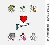 set of icons love heart... | Shutterstock .eps vector #1648314196