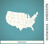 vector map of the delaware | Shutterstock .eps vector #1648323196