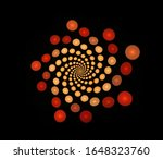Abstract Fractal Spiral Of...