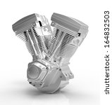 Engine On A White Background