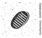 Astronaut Bootprints. Moon...