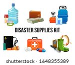 disaster supplies kit set in... | Shutterstock .eps vector #1648355389
