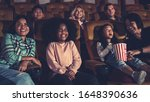 people audience watching movie...   Shutterstock . vector #1648390636