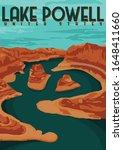 Lake Powell Usa Vector...