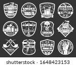 cigarette and cigar badges of... | Shutterstock .eps vector #1648423153