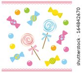 candies on white background | Shutterstock .eps vector #164842670