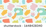 Sewing Pattern  Seamless Vector ...