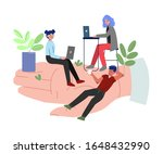 giant human hand with business...   Shutterstock .eps vector #1648432990