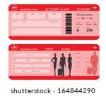vector image of airline... | Shutterstock .eps vector #164844290