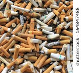 Cigarette Butts Stacked
