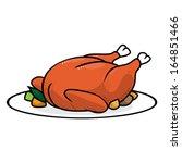 chicken roast | Shutterstock .eps vector #164851466