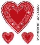 lace heart doily  vintage...
