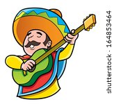 mexico guitar player | Shutterstock .eps vector #164853464
