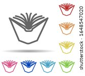 open book in multi color style...