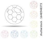 fan ball in multi color style...