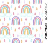 watercolor neutral rainbow and...   Shutterstock . vector #1648564210