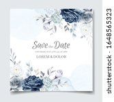 Navy Blue Floral Wedding...
