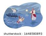 Jesus Walks On Water  Bible...