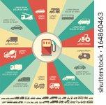 flat transportation infographic ... | Shutterstock .eps vector #164860463
