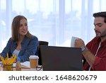 caucasian man and caucasian...   Shutterstock . vector #1648620679