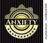 anxiety shiny badge. vector... | Shutterstock .eps vector #1648636900