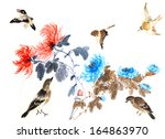 nature chinese element  plant... | Shutterstock . vector #164863970