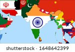 center the map of india. vector ... | Shutterstock .eps vector #1648642399
