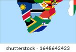 center the map of south africa. ... | Shutterstock .eps vector #1648642423