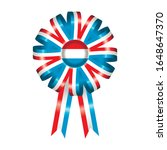 luxembourg flag  rosette and... | Shutterstock .eps vector #1648647370