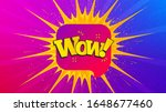 wow chat bubble badge. flare... | Shutterstock .eps vector #1648677460