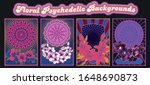 floral psychedelic backgrounds... | Shutterstock .eps vector #1648690873