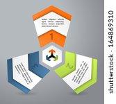infographics chart like design... | Shutterstock .eps vector #164869310