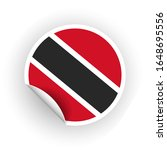 sticker of trinidad and tobago... | Shutterstock .eps vector #1648695556