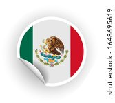 sticker of mexico flag with... | Shutterstock .eps vector #1648695619