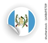 sticker of guatemala flag with... | Shutterstock .eps vector #1648695709