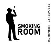 Smoking Room Or Area Sign. Mal...